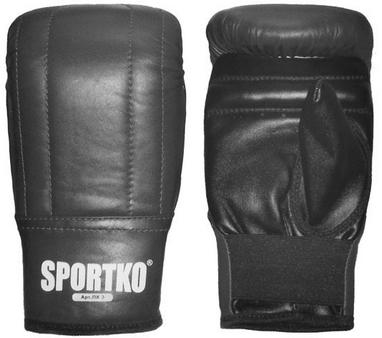 Перчатки снарядные кожаные Sportko PK-3-B черные