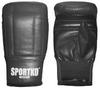 Перчатки снарядные кожаные Sportko PK-3-B черные - фото 1