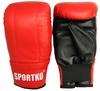 Перчатки снарядные кожаные Sportko PK-3-R красные - фото 1