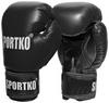 Перчатки боксерские Sportko PD-1B черные - фото 1