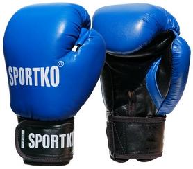Перчатки боксерские Sportko PD-1BL-10 10 Oz синие