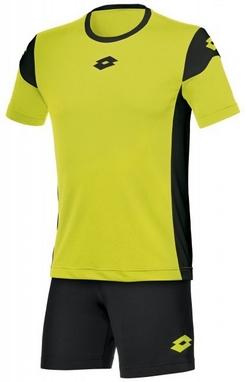 Форма футбольная детская Lotto Kit Stars EVO JR R9742 Fluo Yellow/Black
