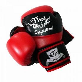 Перчатки боксерские Thai Professional BG7 TPBG7-BK-R черно-красные