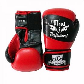 Фото 2 к товару Перчатки боксерские Thai Professional BG7 TPBG7-BK-R черно-красные