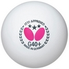 Набор мячей для настольного тенниса Butterfly G40+ Plastic 3* - белые, 3 шт (BG40-P-3) - фото 2