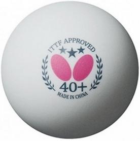 Набор мячей для настольного тенниса Butterfly 40+ Plastic 3* (12шт., белый)