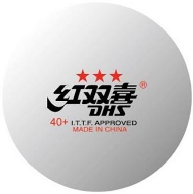 Набор мячей для настольного тенниса DHS 3* 40+ Plastic (6 шт., белые)