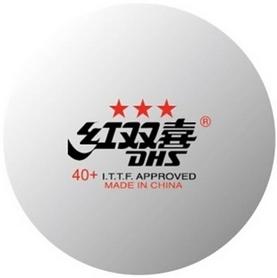 Фото 1 к товару Набор мячей для настольного тенниса DHS 3* 40+ Plastic (6 шт., белые)