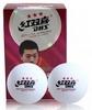 Набор мячей для настольного тенниса DHS 3* 40+ Plastic (6 шт., белые) - фото 2
