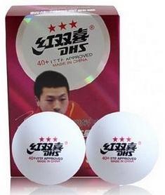 Фото 2 к товару Набор мячей для настольного тенниса DHS 3* 40+ Plastic (6 шт., белые)