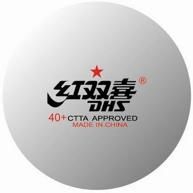 Набор мячей для настольного тенниса DHS 1* 40+ ITTF (10 шт., белые)