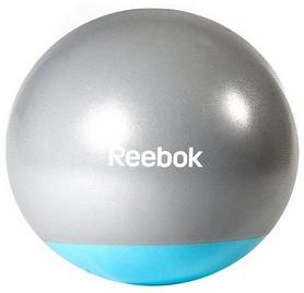 Мяч для фитнеса (фитбол) 65 см Reebok серый с голубым