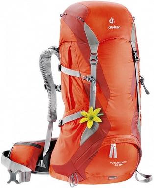 Рюкзак туристический Deuter Futura PRO 34 л SL papaya-lava