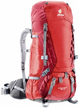 Рюкзак туристический Deuter Aircontact 45+10 л fire-cranberry