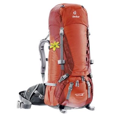 Рюкзак туристический Deuter Aircontact 40+10 л papaya-lava