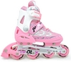 Коньки роликовые раздвижные Maraton M-0813 розовые - фото 1