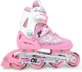 Фото 1 к товару Коньки роликовые раздвижные Maraton M-0813 розовые