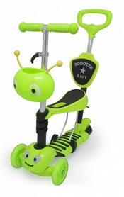 Фото 1 к товару Самокат трехколесный с сиденьем и толкателем Maraton Scooter 160 Зеленый