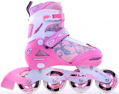 Коньки роликовые раздвижные Maraton TB 12-A розовые