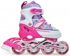 Коньки роликовые раздвижные Maraton Keddo розовые - фото 1