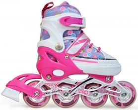 Фото 1 к товару Коньки роликовые раздвижные Maraton Keddo розовые