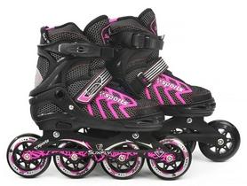 Фото 2 к товару Коньки раздвижные роликовые Maraton Cool Slide M-6005 розовые