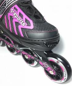 Фото 3 к товару Коньки раздвижные роликовые Maraton Cool Slide M-6005 розовые