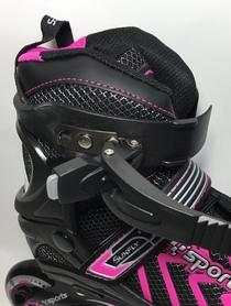 Фото 4 к товару Коньки раздвижные роликовые Maraton Cool Slide M-6005 розовые