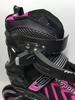 Коньки раздвижные роликовые Maraton Cool Slide M-6005 розовые - фото 4