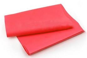 Лента эластичная для пилатеса Pro Supra (р-р 1,5 м x 15 см x 0,35 мм) малиновая
