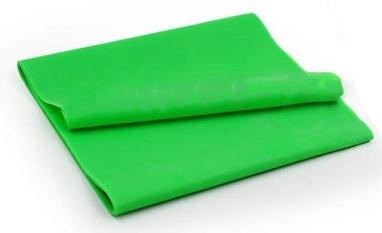 Лента эластичная для пилатеса Pro Supra (р-р 1,5 м x 15 см x 0,3 мм) салатовая