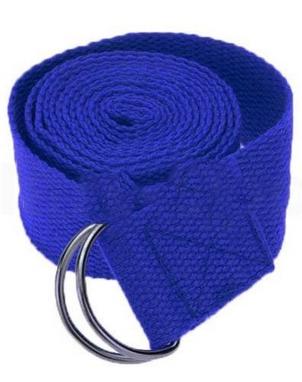 Ремень для йоги Pro Supra (183 см x 3,8 см) синий