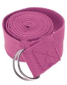 Ремень для йоги Pro Supra (183 см x 3,8 см) розовый