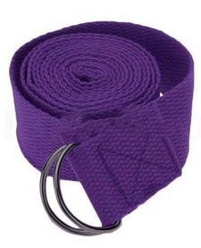 Ремень для йоги Pro Supra (183 см x 3,8 см) фиолетовый