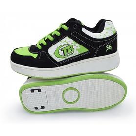 Кроссовки с роликами Maraton Heelys зеленые