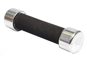 Гантель для фитнеса хромированная c мягкой ручкой 1кг DB 305-1