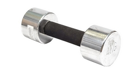 Гантель для фитнеса хромированная c мягкой ручкой 4кг DB 305-4
