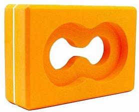 Йога-блок с отверстием Pro Supra FI-5163 оранжевый