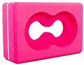 Йога-блок с отверстием Pro Supra FI-5163 розовый