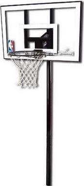 Стойка баскетбольная (стационарная) Spalding Silver In-Ground 44