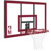 Щит баскетбольный Spalding NBA Combo - 44 Polycarbonate (112х73,5 см) - фото 1