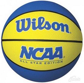 Мини-мячик баскетбольный Wilson NCAA Mini Basketball SS16 Yellow-Blue