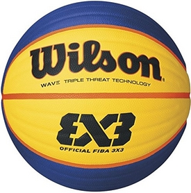 Мяч баскетбольный Wilson Fiba 3X3 Game Basketball SS16 Yellow-Blue №6