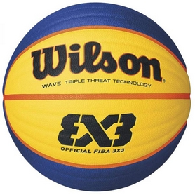 Мяч баскетбольный Wilson Fiba 3X3 Replica RBR Basketball SZ6 SS16 Yellow-Blue №6