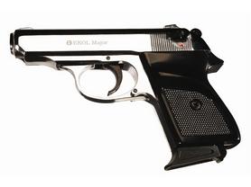 Пистолет стартовый Ekol Major 9 мм хром