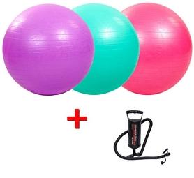 Мяч для фитнеса (фитбол) 65 см HMS + Насос ручной Double Quick Intex 68612