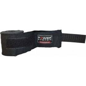 Бинты боксерские Power System Boxing Wraps PS-3404 4м черные (2 шт)