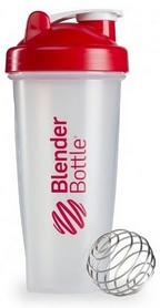 Шейкер BlenderBottle Classic 820 мл Clear/Red с шариком