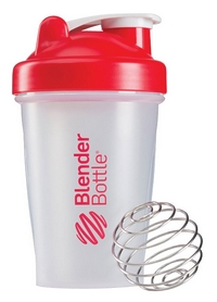 Шейкер BlenderBottle Classic 590 мл Clear/Red с шариком