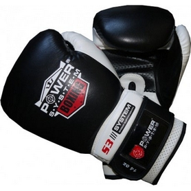 Перчатки боксерские Power System Boxing Gloves Target Black